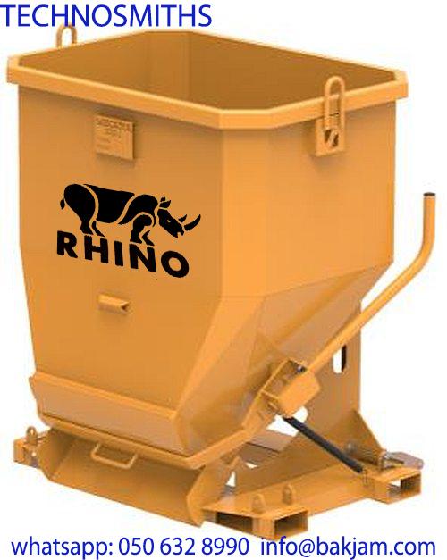1000 liter concrete bucket-self dumping hopper