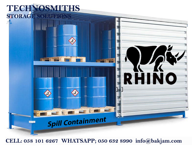 STEEL PALLETS-OIL DRUM SPILL CONTAINMENT CONTAINER